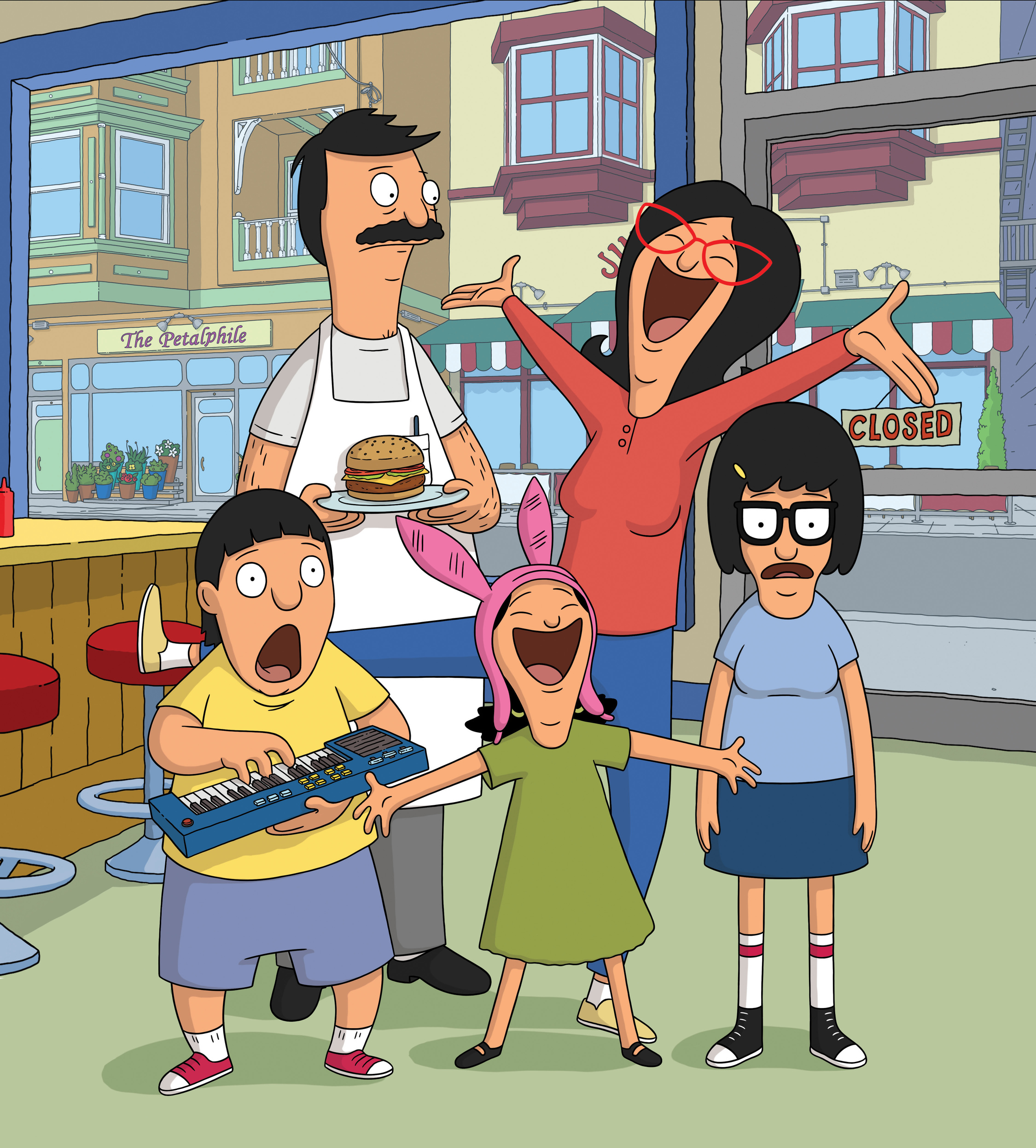 BOB'S BURGERS: Join the Belcher family for Season Five of the Emmy Award winning BOB'S BURGERS Sundays on FOX. BOB'S BURGERS ª and © 2014 TCFFC ALL RIGHTS RESERVED.