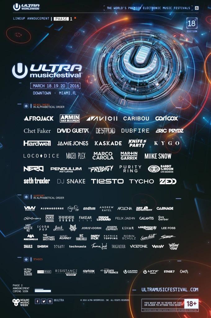 ultra 2016 lineup