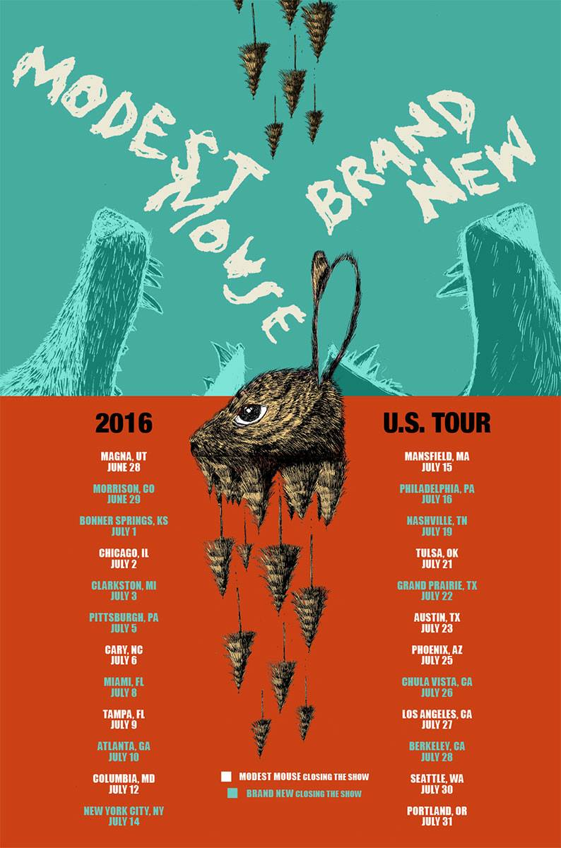modest mouse brand new tour