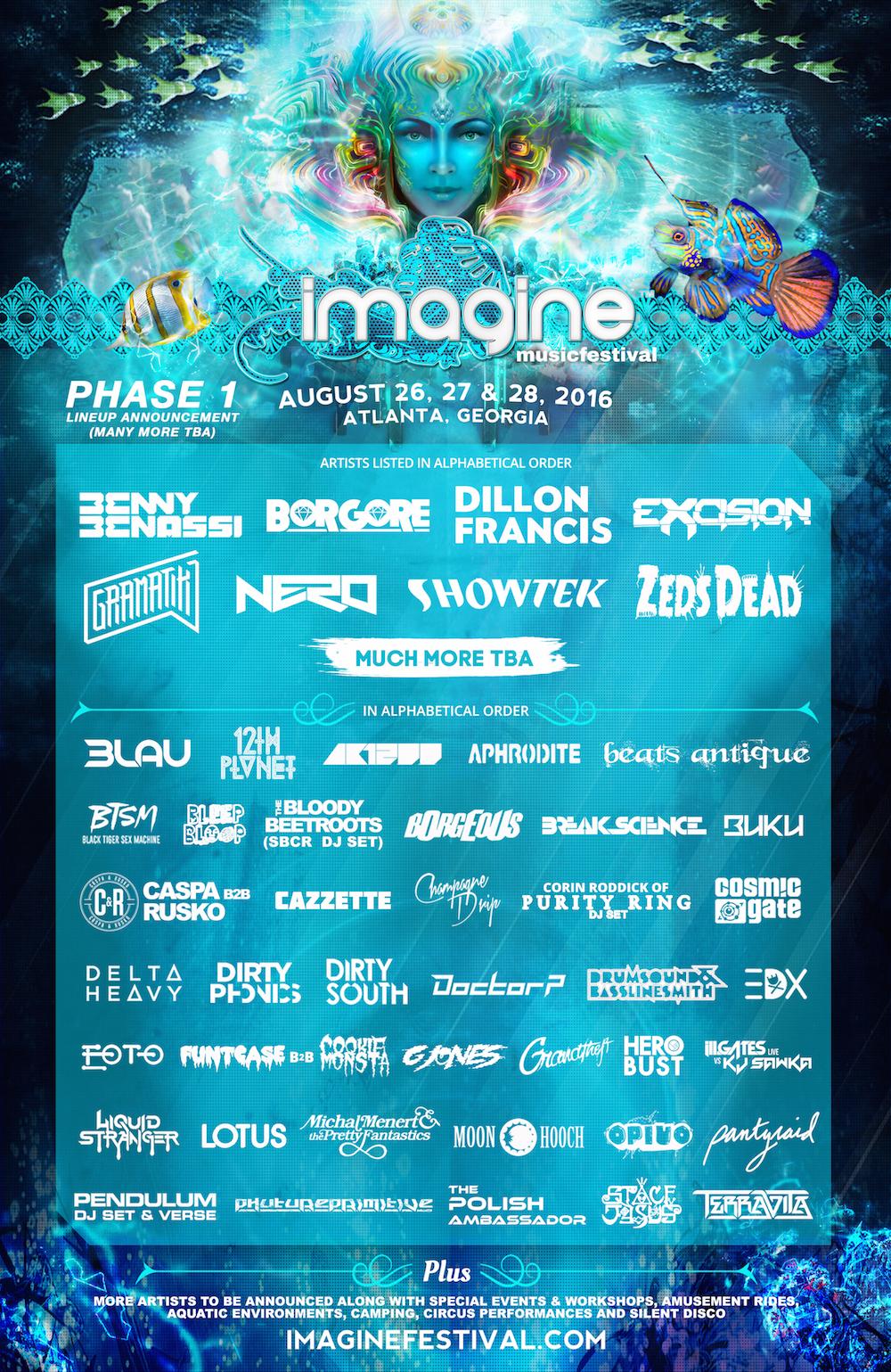 imagine festival lineup