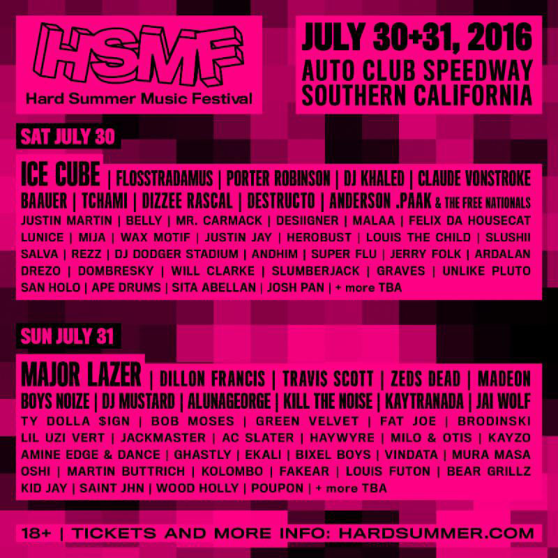 hard summer music festival lineup