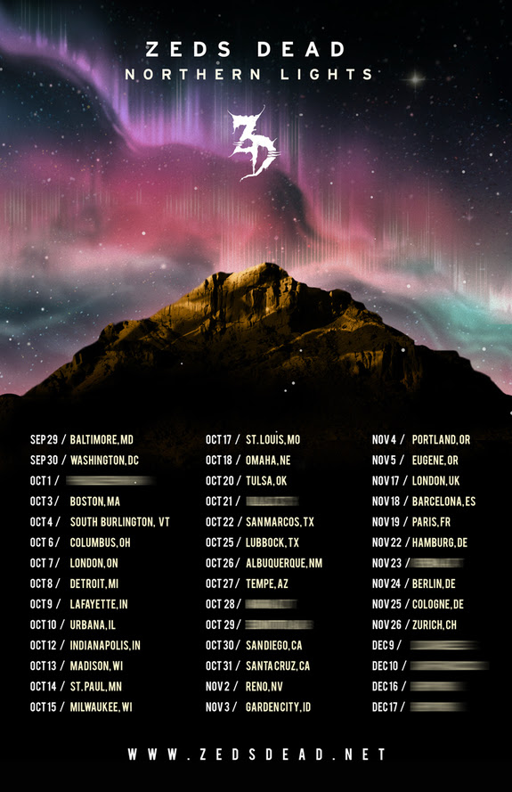 zeds dead northern lights tour