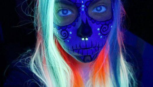 Newest Halloween Raver Trend: Blacklight Hair