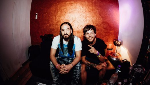 "Steve Aoki and Louis Tomlinson Perform ""Just Hold on"" Live for the First Time"