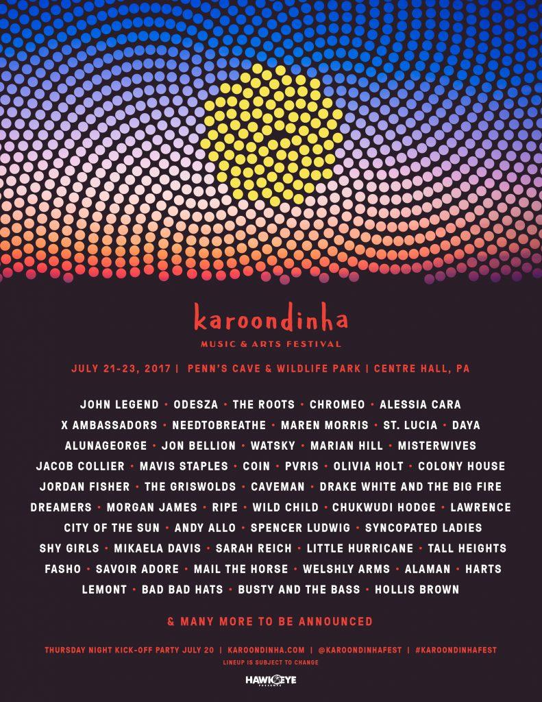 Karoondinha - First Wave Lineup Poster - 2.27.17 (1)
