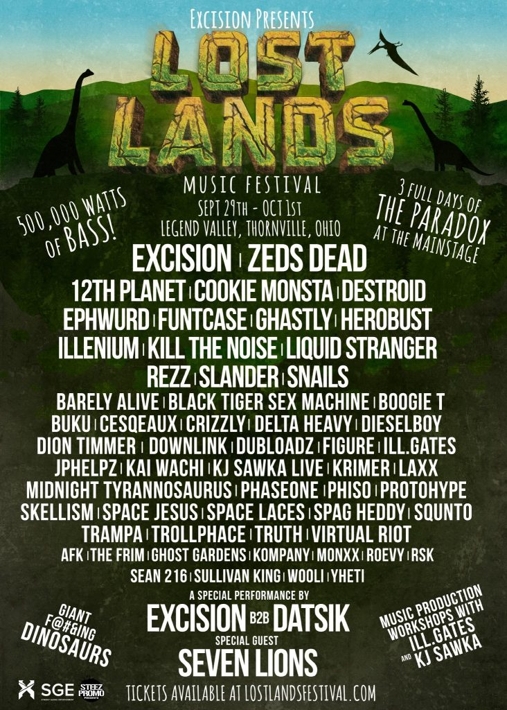 Excision Releases Massive Lineup for Lost Lands Music Festival