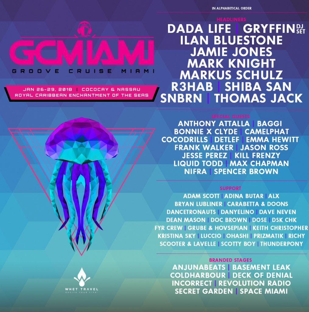 Groove Cruise Announces 2018 Phase One Lineup