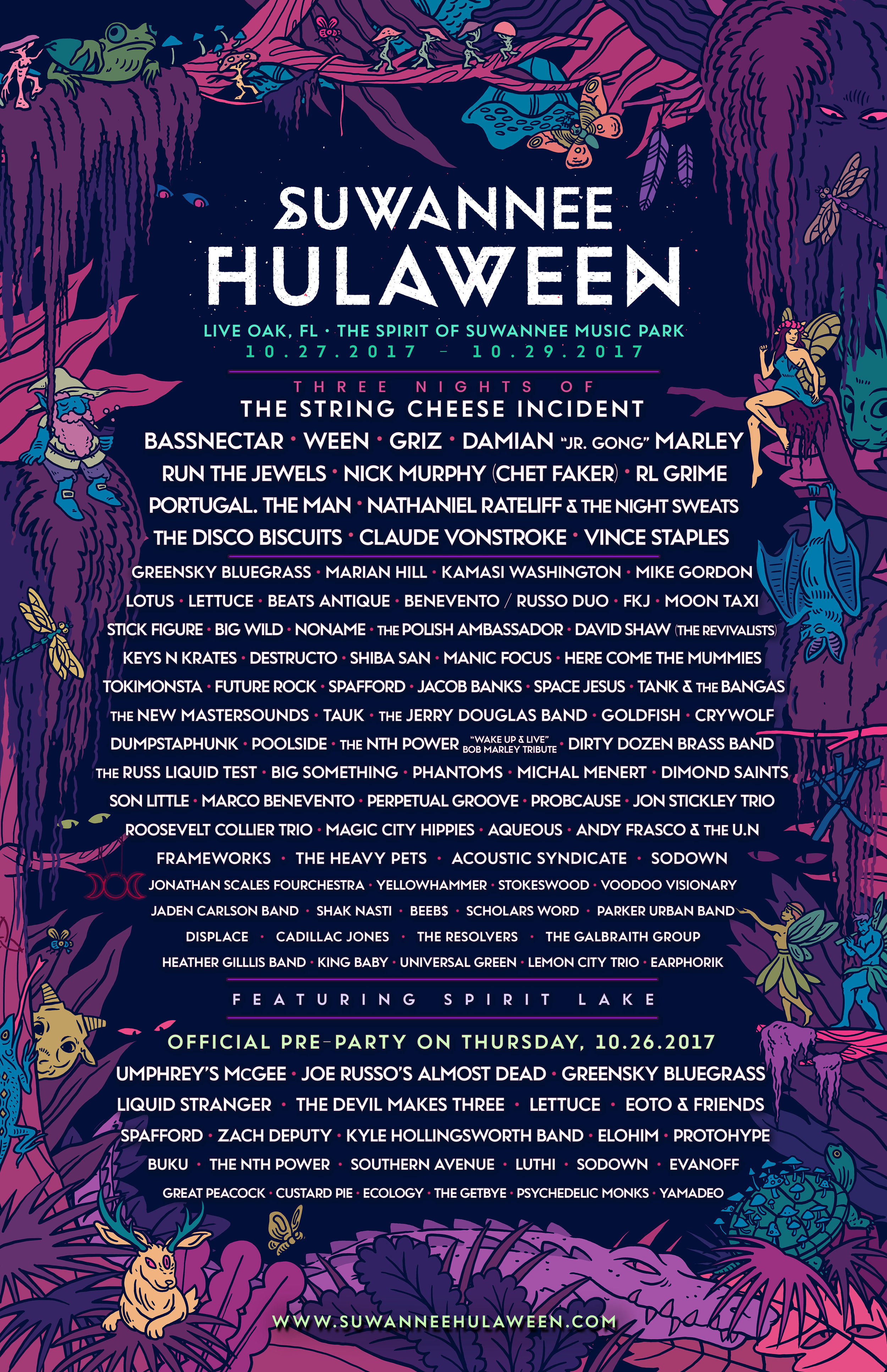 Suwannee Hulaween Drops Wicked Phase 2 Lineup