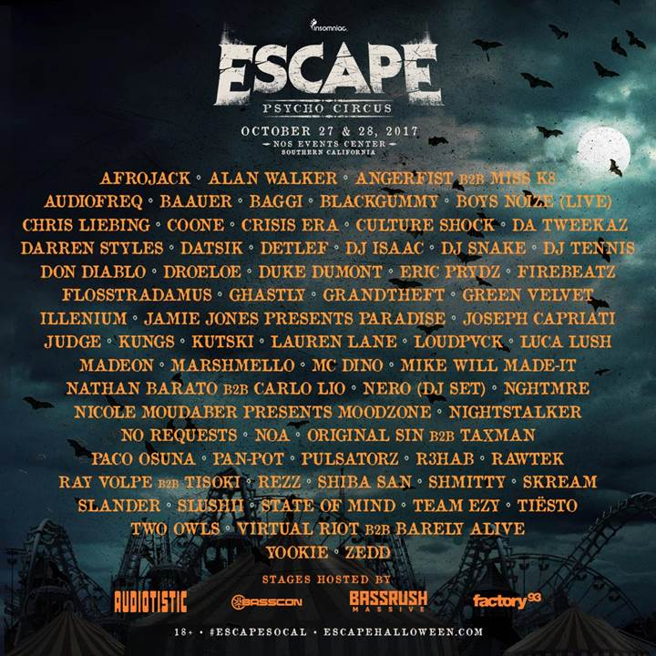 escape-psycho-circus-lineup-2017-ravejungle