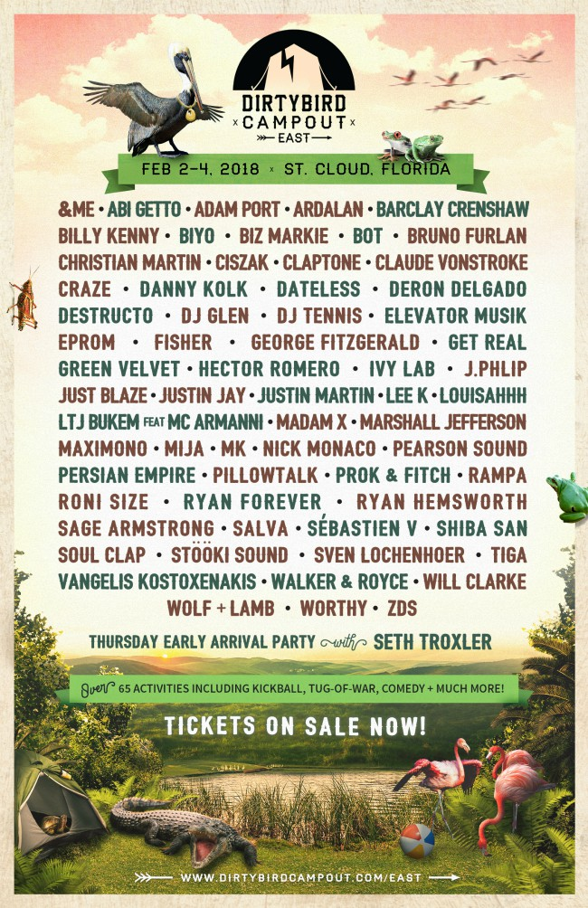Dirtybird Campout East Phase 3 Lineup